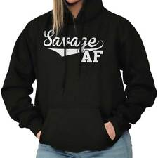 Savage AF Funny Athletic Sports Attitude Gym Hoodies Sweat Shirts Sweatshirts