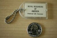 Royal Neighbors Of America Life Insurance Flicker Flasher VTG Keychain Key Ring