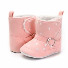 First Walkers Winter Boots Walking Shoes For Baby Polka Dots Pattern Cotton Shoe