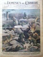 La Domenica del Corriere 4 Marzo 1945 WW2 Fulmine Prussia Tavole Beltrame Giada