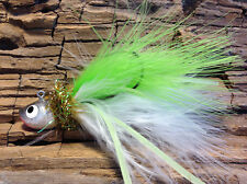 Hardwater Tackle - Custom Tied Ice Fishing Jig 3/8 oz. Glow legs