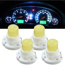 4x T4 Neo Wedge LED Bulb Dash Climate Control Instrument Base Light Lamps White