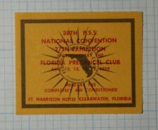National Convention Exhibition Fl Precancel Club 1959 Philatelic Souvenir Label