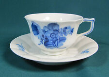 Royal Copenhagen Blue Flowers Panel Cup and Saucer #8500