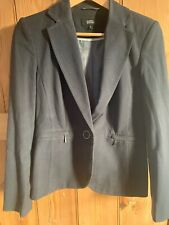 M&S Grey Trouser Suit With Zips - 8 Jacket 10 Trousers *