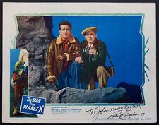 THE MAN FROM PLANET X EDGAR ULMER SCI-FI 1951 ROBER CLARKE SIGNED LOBBY CARD