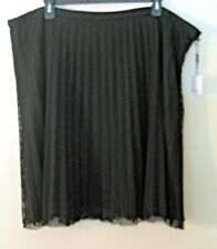 537c2b3a8ff Womens Calvin Klein Black Lined Full Pleated Skirt Poly Blend Size 24w