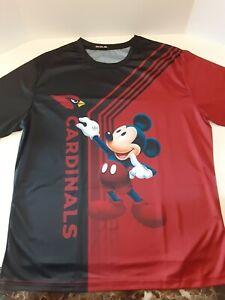 Arizona Cardinals & Mickey Mouse Unisex Polyester Shirt ( XXL )