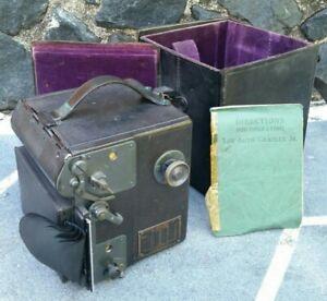 Vintage Auto Graflex Jr Folmer & Schwing Kodak Curtain Aperture Camera w/ Film!