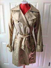 bebe trench coat size small beige with sheen