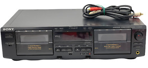 SONY TC-WE425 DUAL DECK CASSETTE PLAYER RECORDER Works New Belts