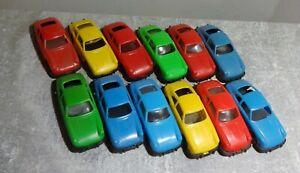 12x Porsche 912 Manurba Plastik 6,5cm gebraucht schöne Sammlerstücke