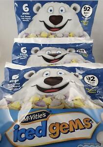 3 Bags Of Mcvites Iced Gems, (6 Pack x 23g )