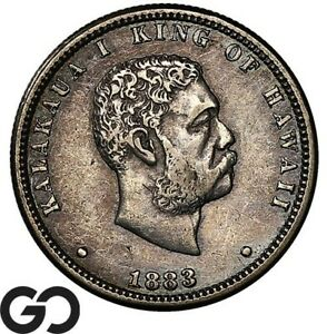 1883 Kingdom Of Hawaii Commemorative Quarter Dollar, 1/4 $!