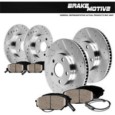 Front & Rear Drill Slot Brake Rotors And Ceramic Pads For VW Beetle Golf Jetta