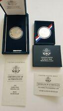 1991 US Korean War Memorial Coin Proof & Uncl Silver Dollar W/ Velvet Box & COAs