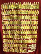 VTG BEER BOTTLES tee 1978 med T shirt ALTA Pabst Blue Ribbon 179 bottles Owens