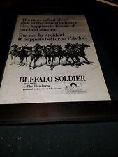 The Flamingos Buffalo Soldier Rare Original Promo Poster Ad Framed!