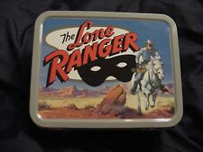 2001 Cheerios Advertising Lone Ranger Mini Metal Lunch Box Mint Condition!*-A