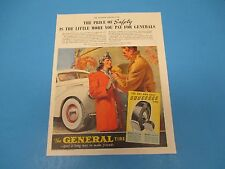 1940 Print Ad, The General Tire and Rubber Co, Squeegee Tire, Akron, Ohio, PA015
