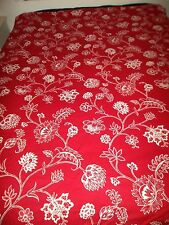 Ikea Alvine Flor Twin 61x82 Duvet Cover Red White Jacobean Floral