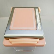 A-Z Flip Open ART DECO Metal LT PINK Bates Cavalier ROSE List Finder VTG NEW NOS