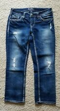 Silver Aiko Mid Capri Jeans Women's Size 29 Stretch EUC