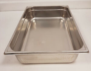 Stainless Steel Bourgeat 1/1 Gastronorm Pan 65 &100mm deep premium  heavy duty