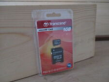 Transcend 1GB Micro SD Card with Adapter (SEALED IN RETAIL PACKAGING)