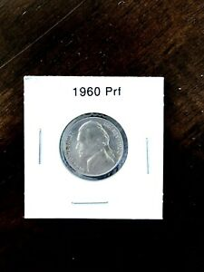 1960 Jefferson Nickel Nice  Proof Coin