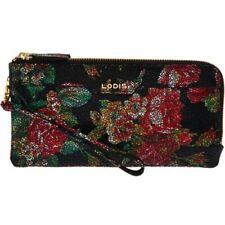 New Lodis Italian Leather Double Zip Wristlet Wallet RFID- Kennedy Rosalia