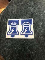 """Philadelphia Bell MINI HELMET DECAL Rare WFL Logo 3"""" Static World Football Vtg"""