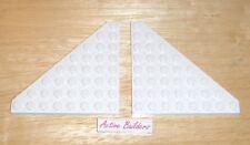 2x Lego Triangular Wedge Plates 8 x 8 White 75053