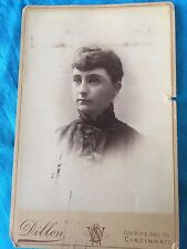Antique Cincinnati Dillon Imperial Photo Gallery Cabinet Card Victorian Female