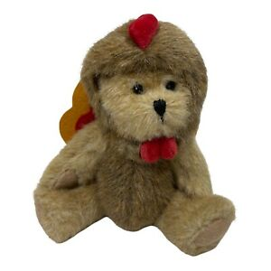 "Thanksgiving Boyds Bear Dressed As A Turkey Plush 7"" Fall"