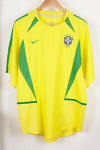 Brazil National Team 2002/2004 Home World Cup Football Shirt Jersey Size L