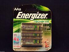 Energizer AA Rechargeable Battery 8 pack 2300mAh NH15BP-8 NIP USA guaranteed