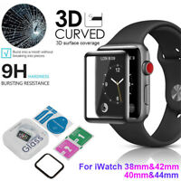 For Apple Watch Series Tempered Glass Film Full Coverage 3D Screen Protector HQ
