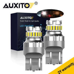 AUXITO T20 7443 3030 SMD LED White Brake Stop Tail Light Globe Bulb 7W 1200LM