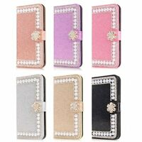 For Samsung Galaxy Note 20  Phone Case Bling Diamond Leather Flip Wallet Stand