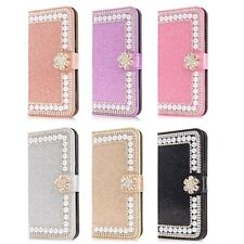 For  iPhone 11 Pro Max 8 7 6 Bling Diamond Leather Flip Wallet Stand Phone Case