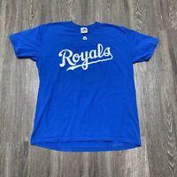 Kansas City Royals Shirt Mens XL Blue Escobar KC MLB Baseball Majestic