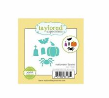 Taylored Expressions Little Bits Die(s) Set HALLOWEEN SCENE Spider, Grave ~TE420