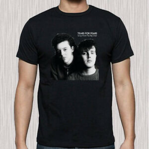 Tears For Fears Cover Men's Black T-Shirt Size S to 3XL