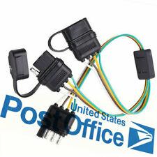 12V Flat 4-Way 4 Pin Trailer Y-Splitter Harness Adapter LED Tailgate Light #