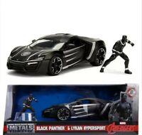 Lykan Hypersport Black Panther Figure Hollywood Ride 1/24 Diecast Car Jada 99723
