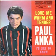 7inch PAUL ANKA love me warm and tender SPAIN EP +PS EX+