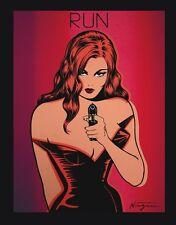 POP ART PRINT - Run - by Niagara Detroit Girl Gun Poster 11x14