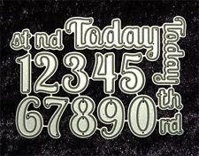 All Occasion Dies -Numbers and Today-Metal Craft Dies Word Set  Robert Addams 10