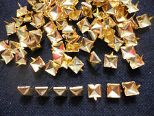 100 pcs Gold Pyramid Stud spot spike for leather craft size 9mm
